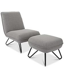 Garney Chair & Ottoman Set
