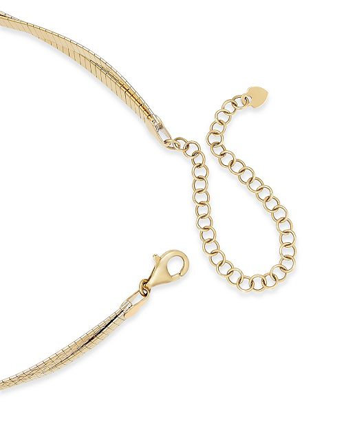 edd2195da Macy's Reversible Braided Choker Necklace in 14k Gold over Sterling Silver,  12