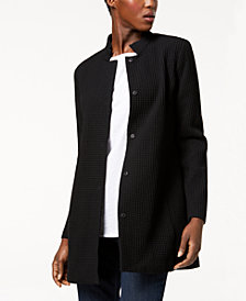 Eileen Fisher Tencel® Blend Textured Stand-Collar Jacket
