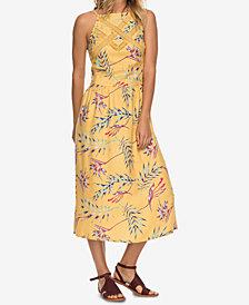 Roxy Juniors' Printed Lace-Inset Midi Dress