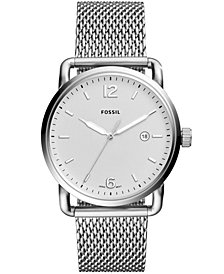 Fossil Men's Commuter Stainless Steel Mesh Bracelet Watch 42mm