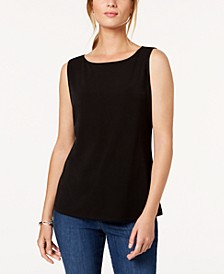 Petite Sleeveless Boatneck Top, Created for Macy's