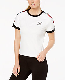Puma Embroidered Cropped Top