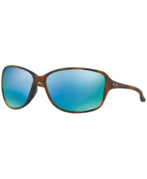 OAKLEY Polarized Sunglasses, Oo9301 61 Cohort in Matte Brown Tortoise / Prizm Deep H2O Polarized