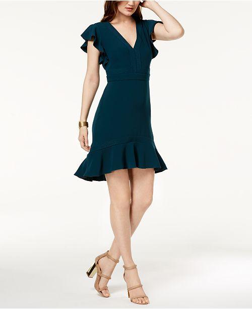 d82ab2e7065 Rachel Zoe Uma Flutter-Sleeve Ruffle-Hem Dress   Reviews - Dresses ...