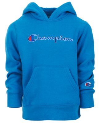 Image of Champion Little Boys Heritage Logo Hoodie