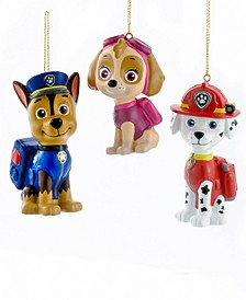 "3"" - 3.5"" Paw Patrol Blow Mold Ornament, Set of 3"