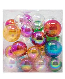 Kurt Adler 26-Pc. Boxed Iridescent Ball Ornaments