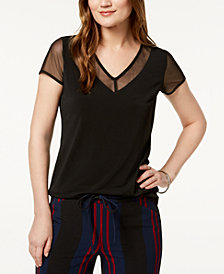 I.N.C. V-Neck Illusion-Contrast T-Shirt, Created for Macy's