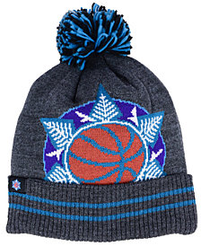 Mitchell & Ness Utah Jazz Black Heather Hi-5 Pom Knit
