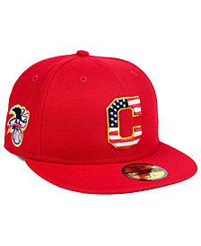 New Era Boys' Cleveland Indians Stars and Stripes 59FIFTY Fitted Cap