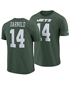 Nike Men's Sam Darnold New York Jets Pride Name and Number Wordmark T-Shirt