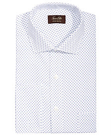 Tasso Elba Men's Classic/Regular Fit Non-Iron Diamond Print French Cuff Dress Shirt, Created for Macy's