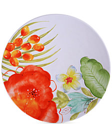 CLOSEOUT! Laurie Gates Red Floral Dinner Plate, First at Macy's