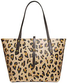 COACH Leopard Market Tote