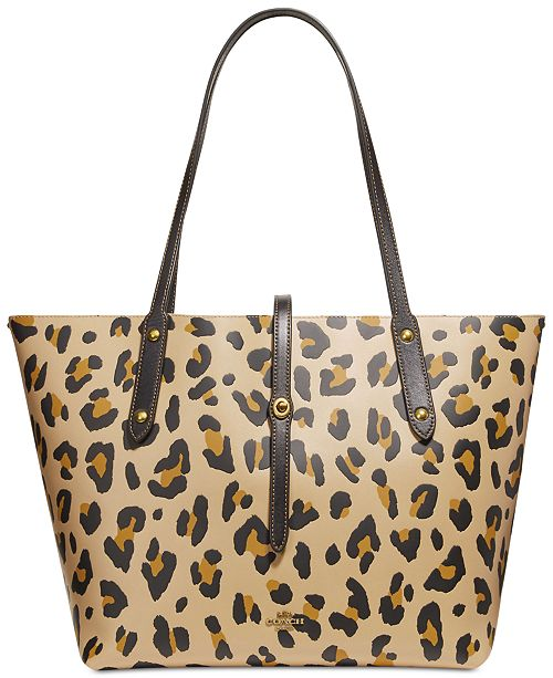 e5b969855f27 COACH Leopard Market Tote   Reviews - Handbags   Accessories ...