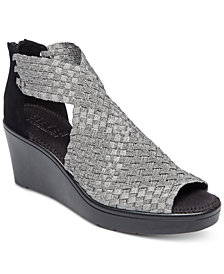 STEVEN by Steve Madden Women's Ace Woven Wedge Sandals