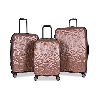 Aimee Kestenberg Geo Edge 3-Piece Hardside Luggage Set