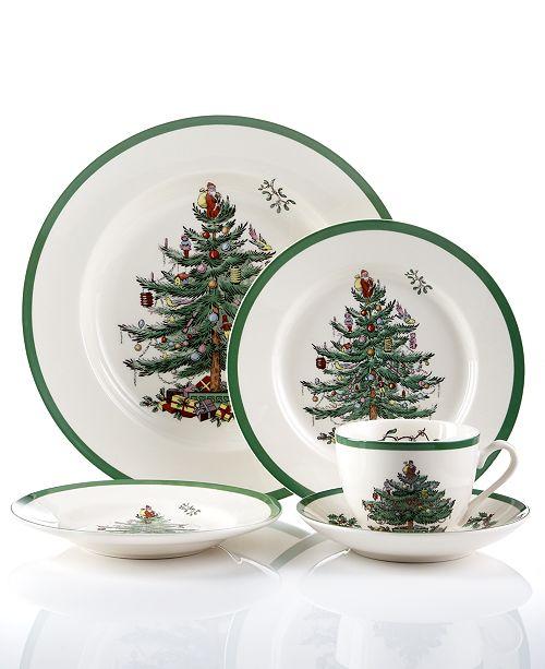 Spode Christmas Tree Dinnerware 5 Pc. Place Setting