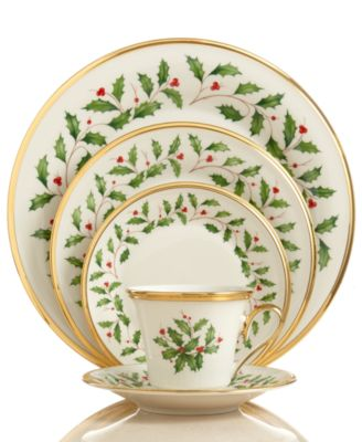 Lenox Dinnerware Holiday 5 Piece Place Setting  sc 1 st  Macy\u0027s & Lenox Dinnerware Holiday Collection - Fine China - Macy\u0027s