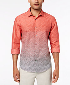 Alfani Men's Ombré Chevron-Print Shirt, Created for Macy's