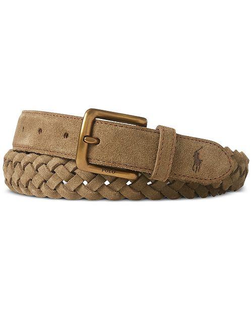 Polo Ralph Lauren Men s Braided Suede Belt   Reviews - All ... 97620c894808e