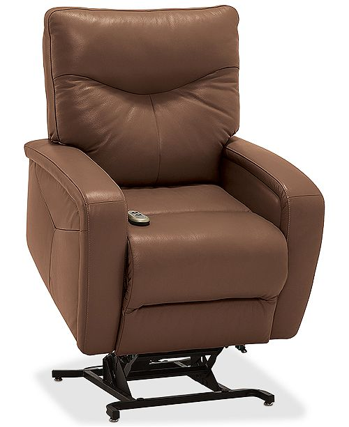 Furniture Erith Leather Power Lift Recliner