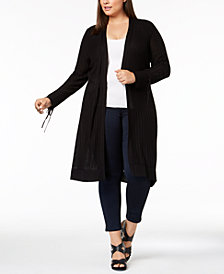 Love Scarlett Plus Size Open-Front Long Cardigan