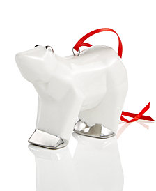 Holiday Lane White Bear Ornament, Created for Macy's