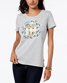 Tommy Hilfiger Metallic Graphic T-Shirt, Created for Macy's