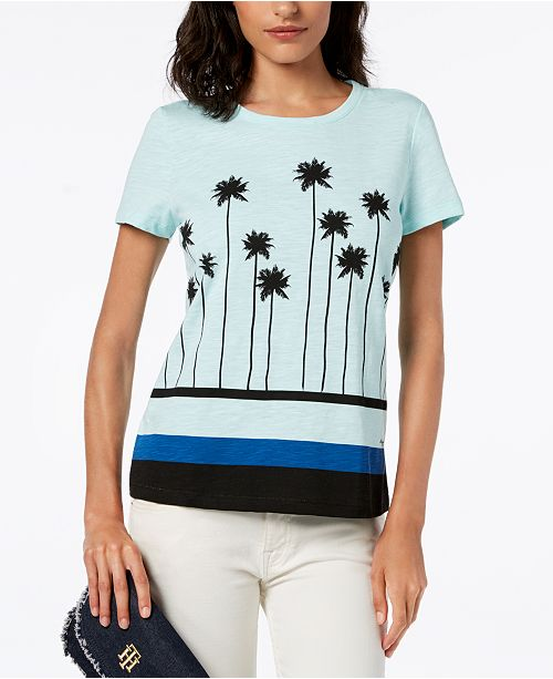 61cc4c3b ... Tommy Hilfiger Palm Tree Graphic T-Shirt, Created for Macy's ...