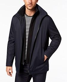 Men's Ripstop Full-Zip Jacket with Fleece Bib