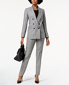 Nine West Plaid Blazer, Shell & Plaid Pants