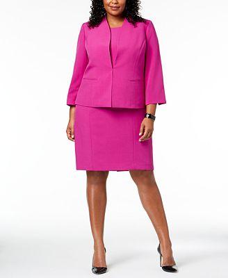 Le Suit Plus Size Sheath Dress Jacket Wear To Work Women Macy S