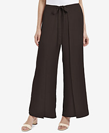 NY Collection Tie-Waist Wide-Leg Pants