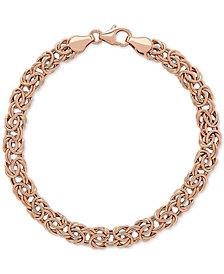 Byzantine Link Bracelet in 10k Rose Gold
