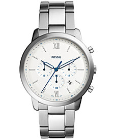 Fossil Men's Neutra Chronograph Stainless Steel Bracelet Watch 44mm