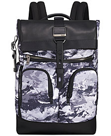 Tumi Men's London Printed Roll-Top Backpack