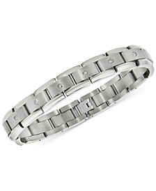 Men's Diamond Link Bracelet (1 ct. t.w.) in Titanium