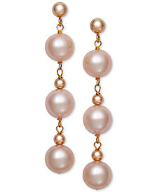 Belle de Mer Cultured Freshwater Pearl (7mm) Drop Earrings (Also in Pink Cultured Freshwater Pearl)