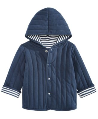 Baby Boys Reversible Striped Cotton Jacket, Created for Macy's