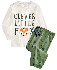 First Impressions Toddler Boys Graphic-Print T-Shirt & Printed Jogger Pants Separates, Created for Macy's
