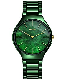 Women's Swiss True Thinline Green High-Tech Ceramic Bracelet Watch 39mm