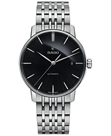 Rado Men's Swiss Automatic Coupole Classic Stainless Steel Bracelet Watch 31.8mm