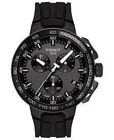 Tissot Men's Swiss Chronograph T-Sport T-Race Cycling Black Silicone Strap Watch 45mm
