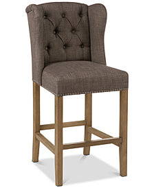 Jodi Tufted Wing Counter Stool, Quick Ship