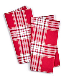 Martha Stewart Collection Red Plaid Napkins, Set of 2, Created for Macy's