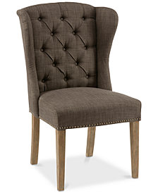 Jodi Tufted Wing Dining Chair, Quick Ship