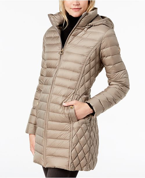 ed3aaadcb3e Michael Kors Plus Size Hooded Puffer Coat   Reviews - Coats ...