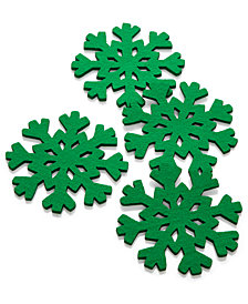 The Cellar Green Snowflake Coasters, Set of 4, Created for Macy's
